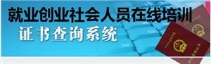 社会在线教育培训职业技能证书查询