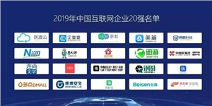2019年企叮咚进入中国互联网企业20强