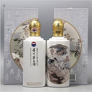 深圳回收茅台范曾寿辰(神翁驯虎图)纪念酒53度酱香型500ml