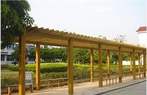 石家庄防腐木长廊的建造注意事项