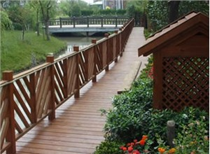 重庆加工处理防腐木围栏木材的详细工序  !