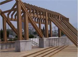唐山防腐木厂家关于防腐木花架的实用性