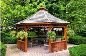 贵阳防腐木凉亭的亭体结构如何施工