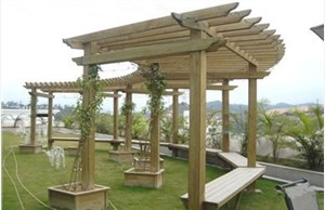 四川防腐木花架的种类形式有哪些?