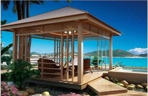 多角度分析户外建设选择防腐木凉亭的原因