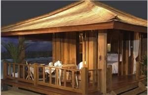 青岛防腐木凉亭的质量取决于选材