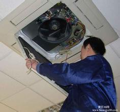 返修三菱窗式空调器刚开机10s内震动大