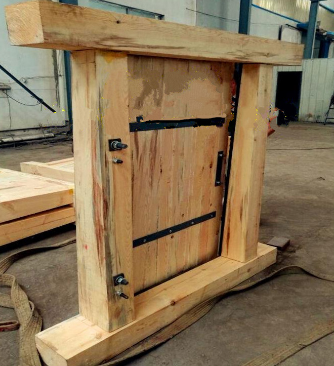 木制无压风门,矿用木制风门,煤矿木质风门