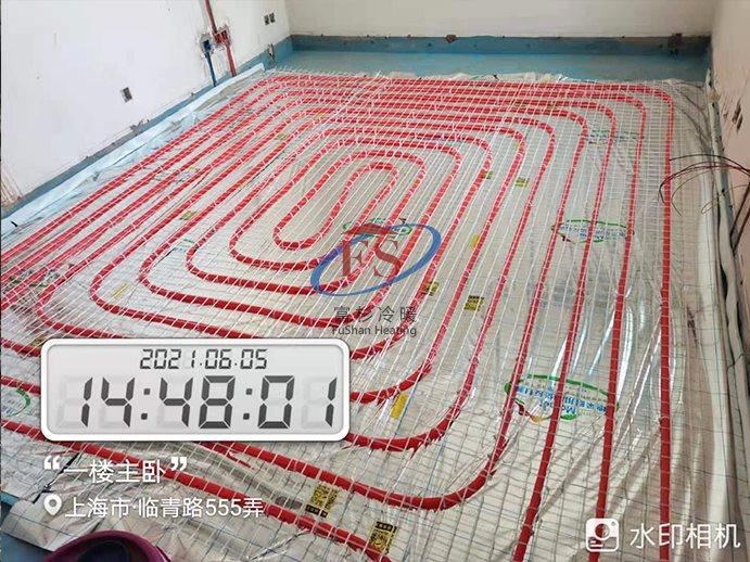 上海杨浦区临青路555弄银河经典苑家庭水地暖安装
